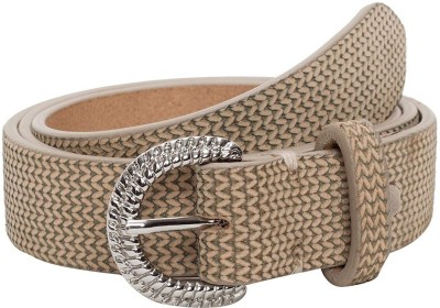 Qouturre Women Formal Beige Genuine Leather Belt