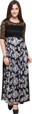 Khodal Fashion Women Maxi Blue Dress