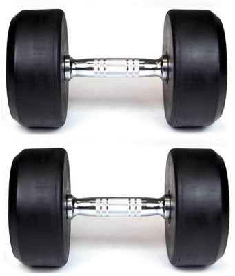 APPS SPORTS Round Dimbell Metal Coated Dumbell Set, Home Gym Set with Hand Grip Fixed Weight Dumbbell(20 kg)