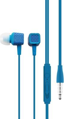 OMAYA Stylish Blue Wired Handphone Mic Wired Headset with Mic Wired Headset with Mic(Blue, In the Ear)