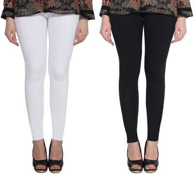 KEX Ankle Length  Legging(White, Black, Solid)