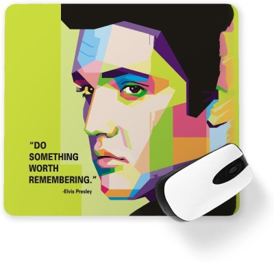 100yellow Elvis Presley Printed Mouse Pad Mousepad(Multicolor)