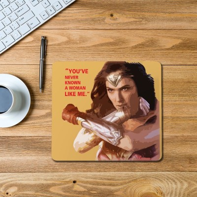 100yellow diana Printed Mouse Pad Mousepad(Multicolor)