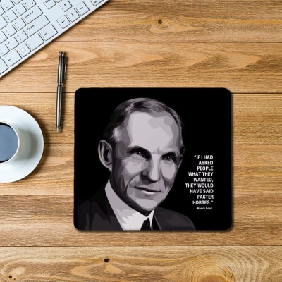 100yellow Henry Ford Printed Mouse Pad Mousepad(Multicolor)