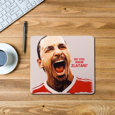 100yellow Zlatan Ibrahimovic Printed Mouse Pad Mousepad(Multicolor)