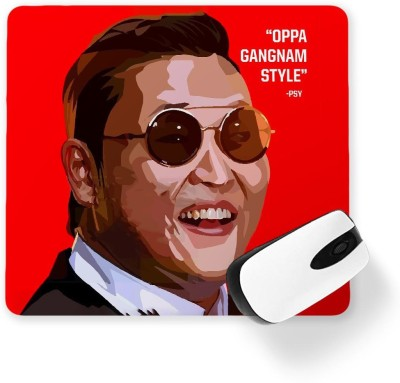 100yellow PSY Printed Mouse Pad Mousepad(Multicolor)