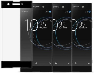 KITE DIGITAL Tempered Glass Guard for SONY XPERIA XA1 (Black)(Pack of 3)