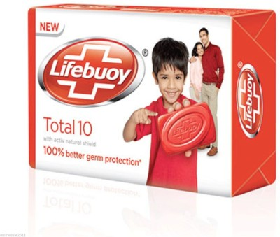 Lifebuoy total 10 125 g (pack of 4) with silver naturol shield(4 x 31.25 g)