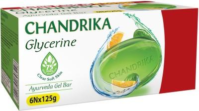 Chandrika Glycerine Soap  (6 x 125 g)