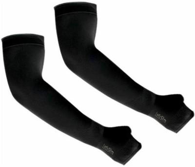 AdroitZ ARM_SLV_BLK_N_01 Nylon Arm Warmer(Black)
