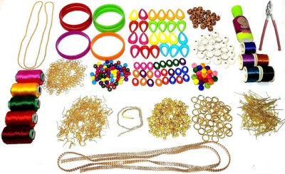 06909c2633 50 pieces Silk thread jewellery making tools kit with instruction manual