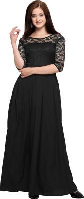 Khodal Fashion Women Maxi Black Dress