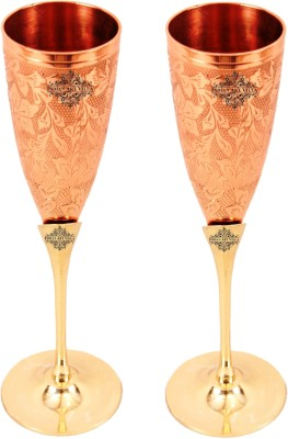 IndianArtVilla IAV-CC-2-165-2 Glass Set(Copper, 300 ml, Brown, Pack of 2)