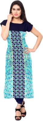 Ziyaa Casual Printed Women Kurti Blue