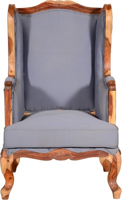 Saffron Art and Craft Sheesham Wood Solid Wood Living Room Chair(Finish Color - Walnut)