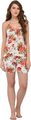 You Forever Women Floral Print Multicolor Top & Shorts Set