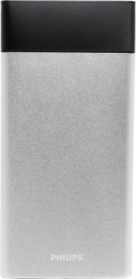 Philips DLP10006 Lithium Polymer Power Bank, 10000 mAh (Silver)