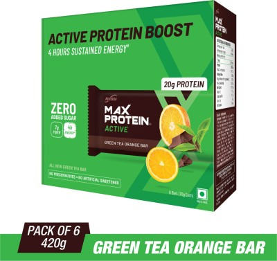 RiteBite Max Protein Active Protein Bars(420 g, Green Tea Orange)