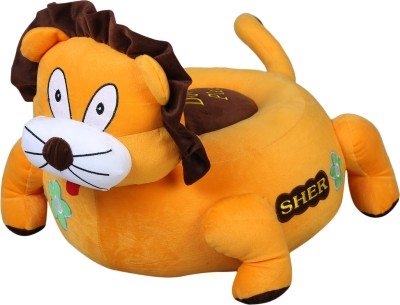 Wrodss Yellow Monkey Sitting Stool   14 inch Multicolor Wrodss Soft Toys