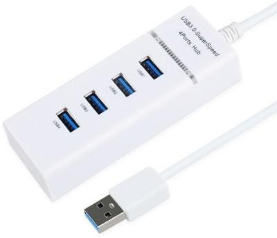 Ever Forever 4 Port White High Speed 3.0 USB Hub
