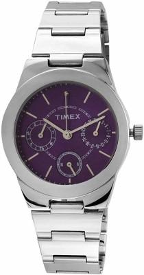 Timex J101 E Class Analog Purple Dial Women's Watch (J101)