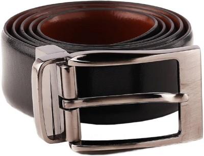 Alton Men Formal Brown, Black Genuine Leather Reversible Belt