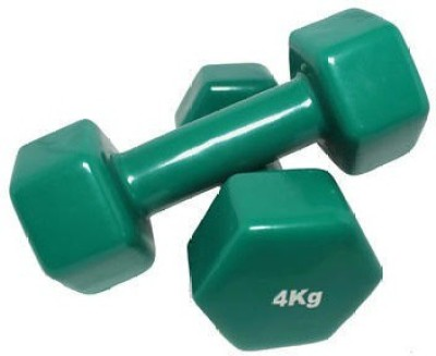 Zeom Dumbbells 4 kg Pair Non-Slippery Thick Handle (4 kg x 4 Kg) Fixed Weight Dumbbell(8 kg)