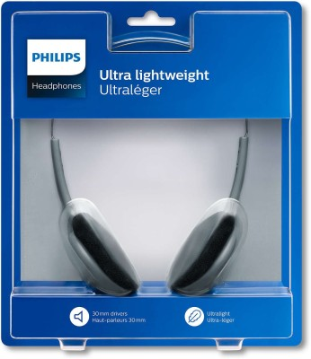 Philips SBCHL140/10 Wired Headset with Mic(Black, Over the Ear)