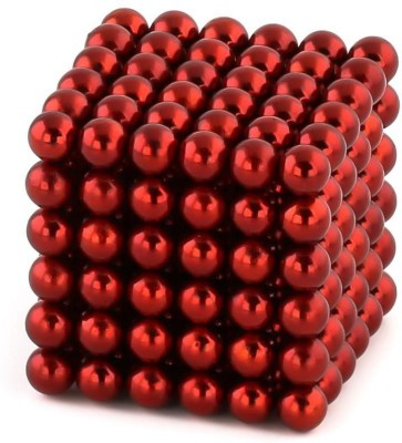 eDUST Magnetic Balls (3mm 216 balls) Magnetic Toys 3D Puzzle Stress Relief (RED)(216 Pieces)