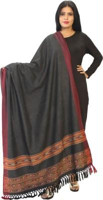 Matelco Pure Wool Printed Women Shawl(Black)