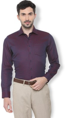 Van Heusen Men Self Design Formal Purple Shirt at flipkart