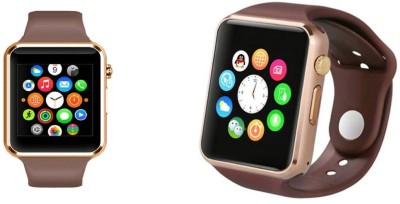 AVIKA 4G Watch (combo) with Camera Golden Smartwatch(Gold Strap Free size)