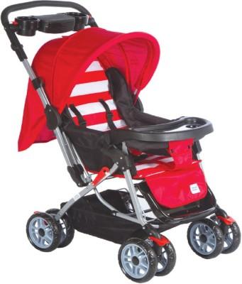 MeeMee Baby Stroller Cum Pram_Red Pram(3, Red)