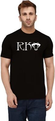 one versus all Printed Men Round Neck Black T-Shirt