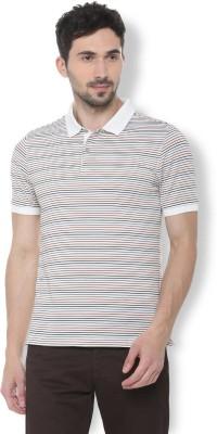 Van Heusen Striped Men Polo Neck Multicolor T-Shirt
