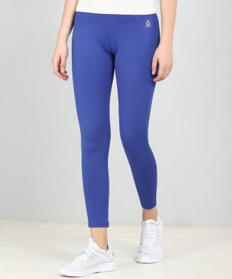 REEBOK Solid Women's Blue Tights
