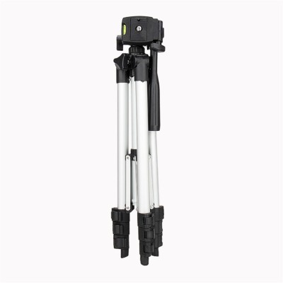 LIFEMUSIC Tripod 3110 Aluminum Lightweight Adjustable Camera & Mobile Stand With Three-Dimensional Head & Quick Release Plate For Video Cameras/ DSLR Cameras/ Point Shoot Cameras and Mobile Portable Tripod(Silver, Black, Supports Up to 1500 g)