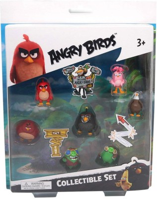 Angry Birds Movie Mini Figure Multi Pack Set A (7 Piece(Multicolor)