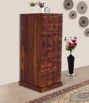 Furniture Mind Sheesham Wood Solid Wood Bar Cabinet(Finish Color - Wallnut Finish)