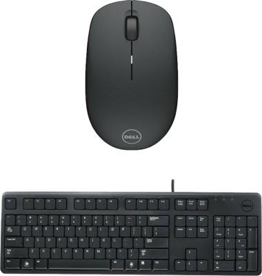 Dell Multimedia Keyboard   KB212 Wireless Mouse WM126_ Black Combo Set
