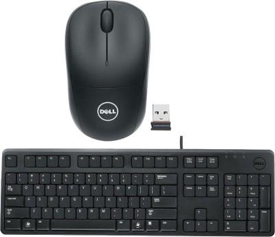 Dell Multimedia Keyboard   KB212 Wireless Mouse WM126WL_ Black Combo Set
