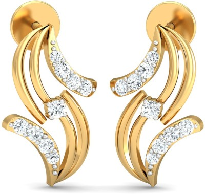 DEEBEEZ Yellow Gold 14kt Diamond Stud Earring