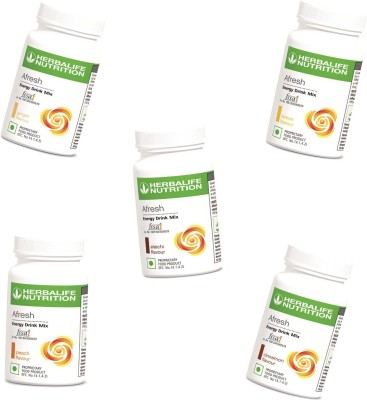 Herbalife Nutrition Set Of All Afresh Flavor Protein Blends(250 g, Lemon, Cinnamon, Peach, Ginger, Elaichi)