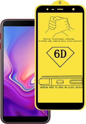 Roxel Edge To Edge Tempered Glass for Samsung Galaxy J6 Plus (Red, 64 GB) (4 GB RAM)(Pack of 1)