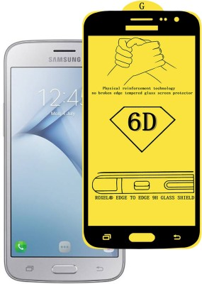 Roxel Edge To Edge Tempered Glass for Samsung Galaxy J2 (Black, 8 GB) (1 GB RAM)(Pack of 1)