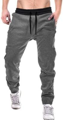 Tripr Solid Men Grey Track Pants