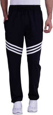 TRINITY JEANS COMPANY Solid Men Black Track Pants