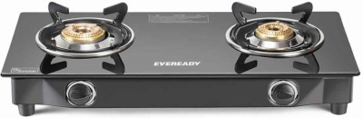 EVEREADY Glass, Stainless Steel Manual Gas Stove(2 Burners)