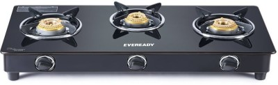 Eveready CS3B Stainless Steel Manual Gas Stove(3 Burners)