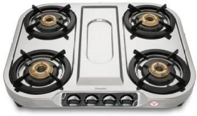 Preethi Shine (ISI Approved) 4 Burner Stainless Steel Manual Gas Stove(4 Burners)